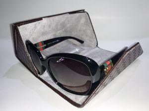 Gucci Shiny Black Brown Gradient Women's Oval Sunglasses for Sale in Diamond Bar, CA
