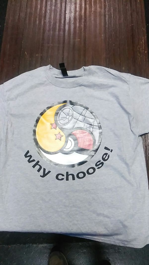 Triforce shirt with star wars, dragon ballz, pokemon