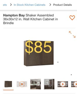 Hampton Bay Shaker Assembled 36x30x12 in. Wall Kitchen Cabinet in Brindle for Sale in South El Monte, CA