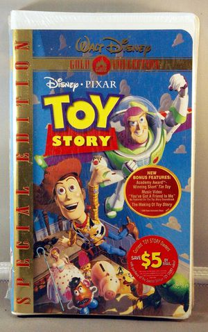 DISNEY PIXAR Toy Story VHS Tape, GOLD COLLECTION Video Special Edition *NEW SEALED* for Sale in Marysville, WA