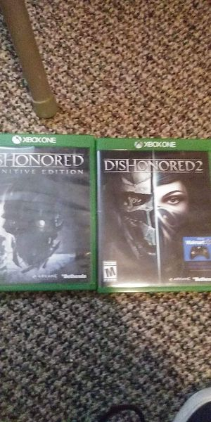 Xbox1 dishonored series for Sale in Fairmont, WV