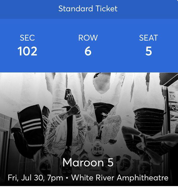 Maroon 5 July 31st 2021