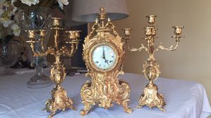 Antique French Clock Set for Sale in Los Angeles, CA