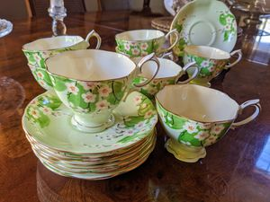 Royal Alberta Set of eight AntiqueTea cups & Saucers for Sale in Tigard, OR