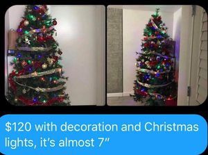 """Christmas tree 7"""" with decoration for Sale in Seattle, WA"""