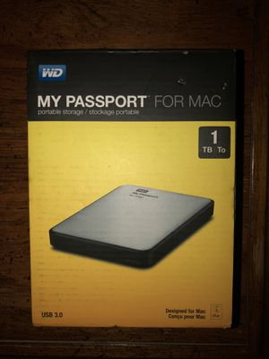 Portable Storage for Mac 1 TB for Sale in Tempe, AZ