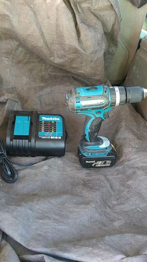 Makita drill Lxt batería 18 v 3.Ah. And charge for Sale in Anaheim, CA