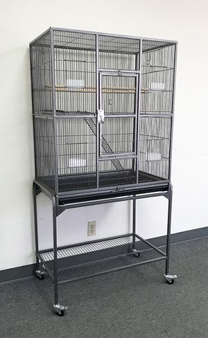"""New in box $110 Rolling 64"""" Bird Cage Parrot Cockatoo Pet with Detachable Stand (32x18x64"""") for Sale in South El Monte, CA"""