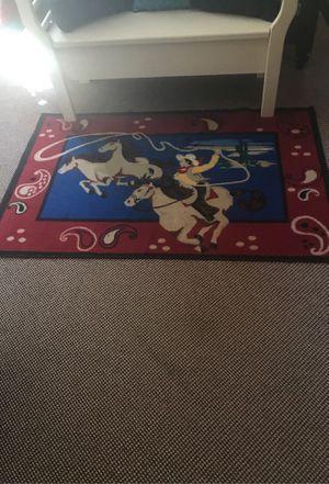 Fun cowboy rug! Aprox 31/2' x 51/2' great shape for Sale in Lakeside, AZ