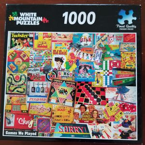 White Mountain Puzzle Games We Played 1000 piece for Sale in VLG WELLINGTN, FL