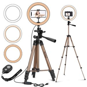 "10"" LED Selfie Ring Light with 50"" Tripod Stand & Phone Holder for Sale in Miami, FL"