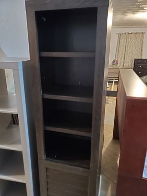 Better Homes & Gardens Ellis Shutter Tower Bookcase and Cabinet, Dark Oak Finish for Sale in El Paso, TX