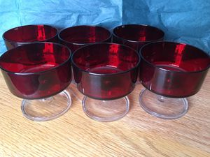 Vintage RUBY RED Sherbets/Custard Dishes Exc Condition for Sale in Dexter, ME