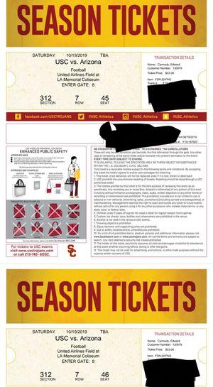 Last minute! USC vs Arizona Electronic Transfer for Sale in Compton, CA