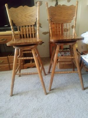 2 bar height vintage chairs / bar stools for Sale in Glendale, AZ
