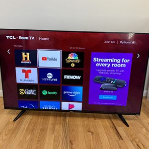 """TCL Roku 55"""" Smart LED UHD (4K) TV for Sale in Silver Spring, MD"""