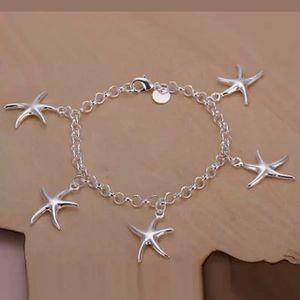 "925 sterling silver lady cut women charms star Bracelet 8"" in long Bracelet - SLV for Sale in Queens, NY"