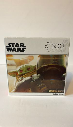 Buffalo Games Star Wars The Mandalorian 500 Pc Puzzle New Sealed for Sale in Pingree Grove, IL