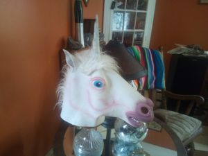 Adult unicorn head mask for Sale in Irving, NY
