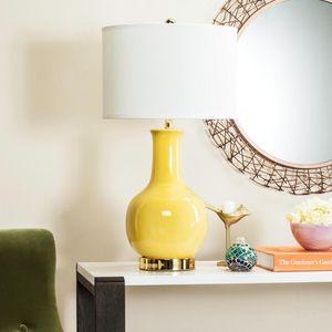 Safavieh Lighting - Yellow Ceramic Paris Lamp for Sale in Spring Hill, TN