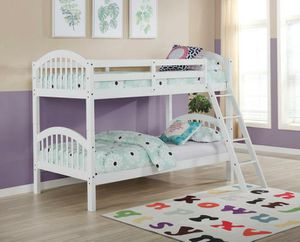 Honey White Twin/Twin Bunk Bed | 4472W for Sale in Columbia, MD