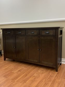 "308809 Walnut 62"" Buffet Table for Sale in Anaheim,  CA"
