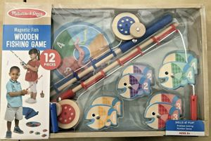 Melissa & Doug Magnetic Wooden Fishing Game 12 pieces for Sale in Miami, FL