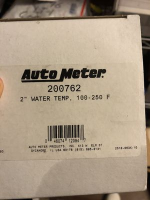 Auto Meter 2-1/16 Water Temp Gauge 100-250F P/C Marine $53.99 Black Friday Special for Sale in Indianapolis, IN