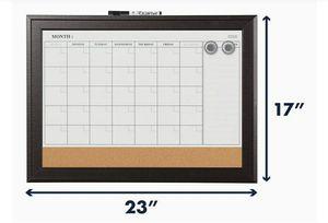 Magnetic Whiteboard Calendar & Corkboard, Dry Erase, Brand New for Sale in Melbourne, FL