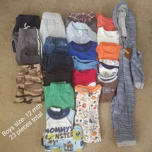 Boys size 12 month baby clothes for Sale in Riverview, FL