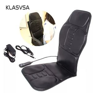 KLASVSA Electric Portable Heating Vibrating Back Massager Chair In Cussion Car Home Office Lumbar Neck Mattress Pain Relief for Sale in Bethesda, MD