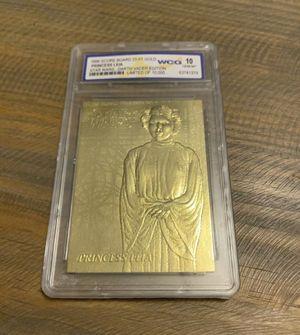 1996 Star Wars Darth Vader Edition Princess Leia Limited Edition Card 23kt Gold WCG 10 graded for Sale in Ocoee, FL