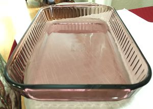 Vintage Pyrex Rectangle/Lasagna Ribbed Baking Casserole Dish Amethyst/Cranberrry for Sale in NW PRT RCHY, FL