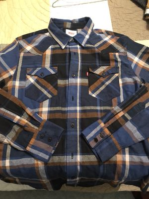 Blue plaid Levi's flannel shirt for Sale in Fairfax, VA