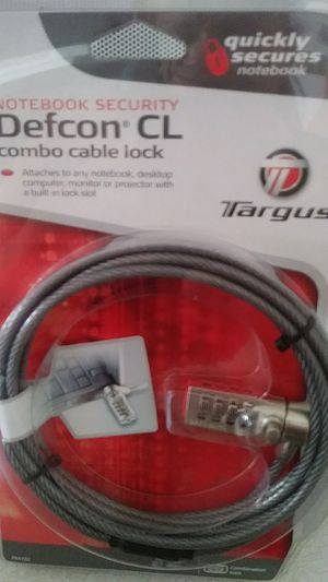 Notebook security deacon cl combo cable lock for Sale in Fresno, CA