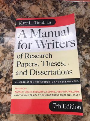 A Manual for Writers - Kate Turabian for Sale in Kailua-Kona, HI