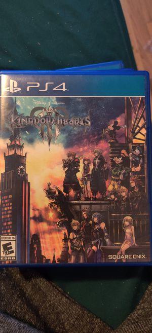 Kingdom hearts 3 PS4 for Sale in Manteca, CA