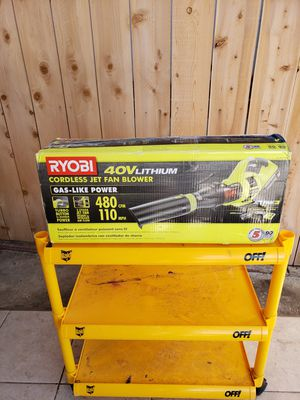 RYOBI 110 MPH 480 CFM Variable-Speed 40-Volt Lithium-Ion Cordless Jet Fan Leaf Blower - 3.0 Ah Battery and Charger for Sale in San Diego, CA
