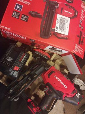Craftsman cordless nail gun 16g for Sale in Kansas City, MO