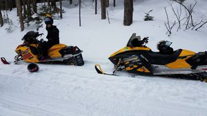 2 Skidoo Snowmobiles with an enclosed trailer up for sale for Sale in Northford, CT