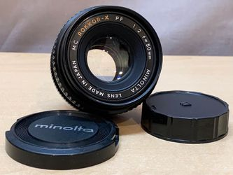 READ 1st Vintage 1973 Minolta MC Rokkor-X PF 1:2 F=50mm F2 Camera Lens for Sale in Chicago,  IL