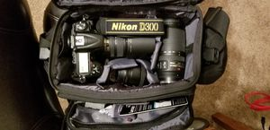 Nikon d300 with 3 nikor lenses, camera case 2 extra batteries and grip with card reader and extra battery for Sale in Hollywood, FL