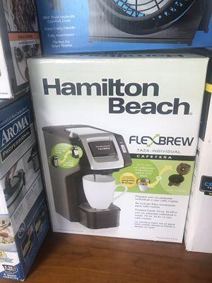 New Hamilton Beach mini Flex Brew Coffee Maker for Keurig coffee k-kups for Sale in Upland, CA
