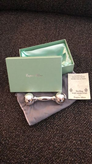 Empire Silver baby rattle for Sale in Round Rock, TX