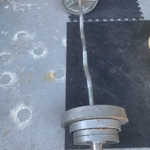 Olympic Weights 2x25, 2x10 And 4x5lbs With Curl Bar. $220 FIRM . for Sale in La Puente, CA