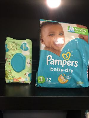 Pampers diapers and wipes for Sale in Arlington, TX
