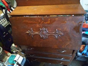 Antique Secretary Cabinet / writing desk for Sale in Andover,  KS