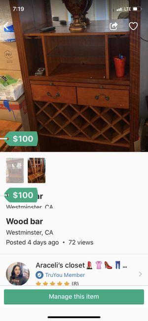 wood bar for Sale in Garden Grove, CA