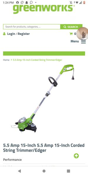 Not free..corded15-inch string trimmer/edger.Used twice damn near New for Sale in Los Angeles, CA