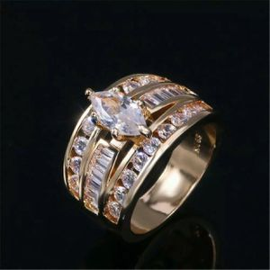 18k gold plated ring white sapphire size 6.,7,8,9 available jewelry accessory for Sale in Colesville, MD